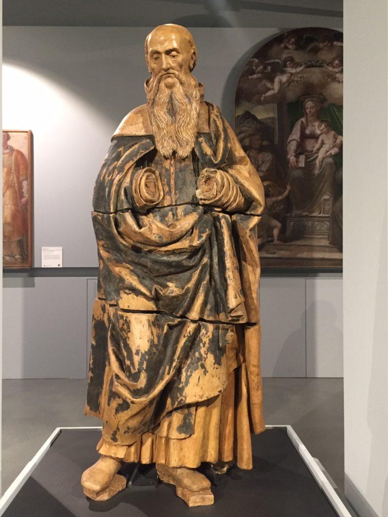 Il Sant'Antonio abate proveniente dalla chiesa di S. Maria del Ponte