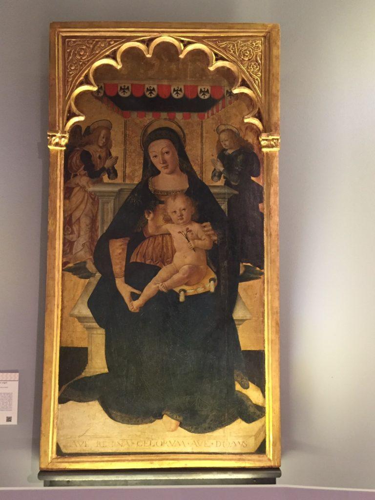 Madonna in trono. Dalla cappella della Torre civica, 1505