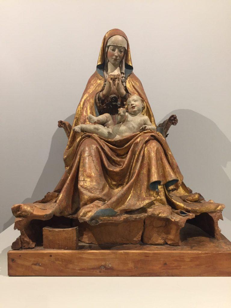 la Madonna di Collemaggio. Terracotta, 1506